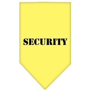 Security Screen Print Bandana Yellow Small